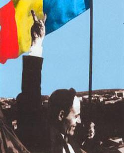 Gheorghe Ghimpu: moment de triumf - Arborarea Tricolorului pe cladirea Parlamentului la 27 aprilie 1990