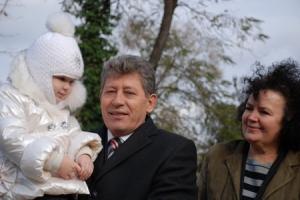 Mihai Ghimpu cu nepoata Andreea şi cumnata Zinaida Ghimpu