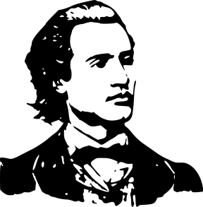 Mihai-Eminescu-b_w_Vector_Clipart